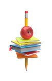 School equipment on the pencil Royalty Free Stock Photos