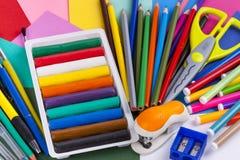 Free School Equipment Set On White Background. Stock Photo - 32417600
