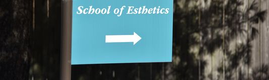 School of Esthetics. Students taking the Esthetician course will receive instruction in all facets of skin care and make up artistry, including, but not limited royalty free stock photography