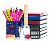 Bright school accessories Stock Photography