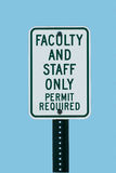 School faculty parking sign Royalty Free Stock Photo
