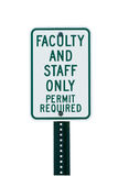 School faculty parking sign Royalty Free Stock Photos