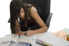 School, female student when studying Stock Images