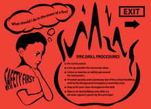 School Fire Drill Procedures Illustration Stock Photography