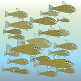 School of Fish. A scalable vector illustration of a school of fish vector illustration