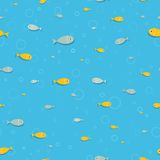School of fish under water - seamless illustration Stock Photography