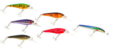 School of Fishing Lures Royalty Free Stock Photography