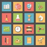 School flat icons set Royalty Free Stock Photo