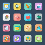 School flat icons Royalty Free Stock Image