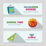 School flat vector banners Stock Photography