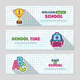 School flat vector banners Royalty Free Stock Photography
