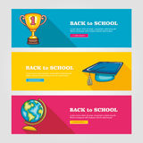 School flat vector banners Royalty Free Stock Photo