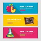 School flat vector banners Stock Image