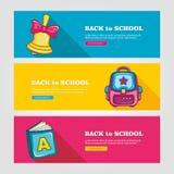 School flat vector banners Stock Images