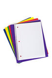 School folders with a blank notebook Stock Image