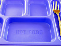 Free School Food Tray And Fork Royalty Free Stock Photography - 429367