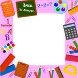 School frame vector illustration