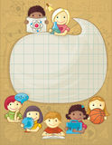 School Frame With Children Royalty Free Stock Image