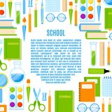 School frame with  supplies vector design. Royalty Free Stock Images