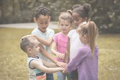 School friends will be together forever. Royalty Free Stock Images