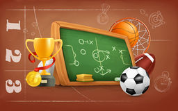 School, game and strategy Stock Images