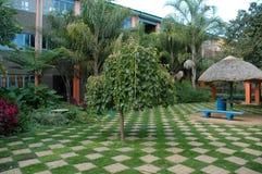 School Garden. Small Garden At Local School Royalty Free Stock Photos
