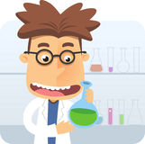 School genious in laboratory Stock Images