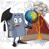 School geography textbook hold globe Stock Image