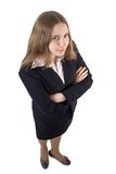 School girl. Fun viewpoint, isolate Royalty Free Stock Images