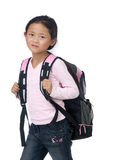 School girl. A young asian school girl ready for class Stock Images