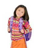 School Girl. A young asian school girl ready for school Stock Photography