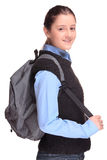 School girl with a backpack Royalty Free Stock Images
