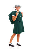 School girl backpack Royalty Free Stock Photography