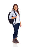 School girl backpack Royalty Free Stock Image