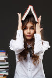 School girl with book Stock Image