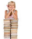 School girl with Books royalty free stock image
