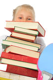 School Girl with books Royalty Free Stock Photo