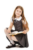 School girl with books isolated Royalty Free Stock Photo