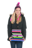 School girl with books Royalty Free Stock Photography