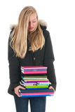 School girl with books Royalty Free Stock Photos