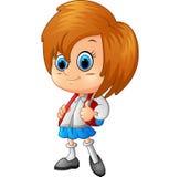 School girl cartoon Royalty Free Stock Image