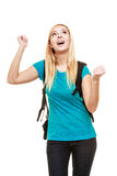 School girl celebrating success Stock Image