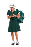 School girl cell Royalty Free Stock Images