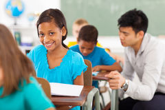 School girl classroom Royalty Free Stock Image