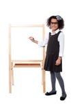 School girl educating her classmates Royalty Free Stock Image