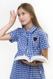 School girl fed up royalty free stock photography