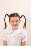 School girl with funny hair style 2 royalty free stock photos