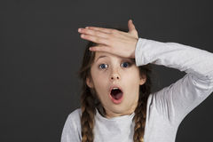 School girl is get in the swing of solution Royalty Free Stock Photography