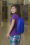 School Girl in Hallway Royalty Free Stock Photography
