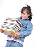 School girl holding books Royalty Free Stock Photos